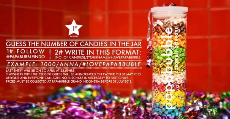 Win our Anniversary Jars by follow this simple step on twitter.